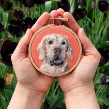 felted wool pet portrait paintings by dani ives