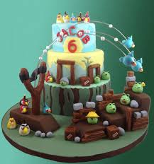 900 fzGG angry birds birthday cake