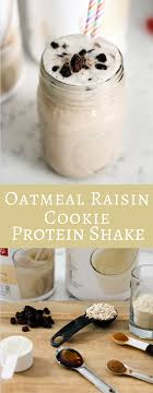 with 17 grams of protein this oatmeal raisin cookie protein shake is the perfect post workout