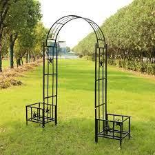 metal arbor garden arch trellis