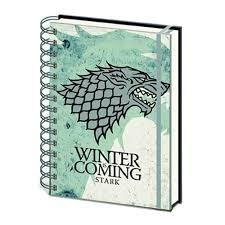 Game Of Thrones Stark House Crest Wooden Plaque of Thrones House Stark Notebook 75