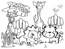 Cute Easy Drawings Of Animals For Kids Coloring Pages Cute Easy