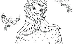 Princess Sofia Coloring Pictures Princess Coloring Pages Printable