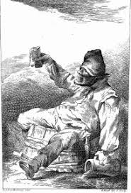 alcoholism and its side effects lifesaver essays a drunkard sits on a barrel spilling drink from a jug and gl wellcome l0020220
