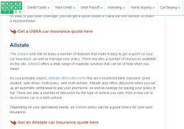 Allstate Auto Insurance Quote
