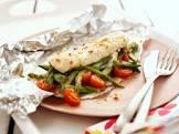 asparagus  fish dinner parcels