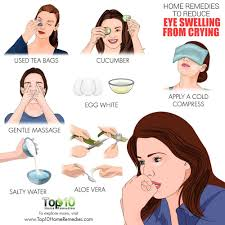 here are the top 10 home remes to reduce eye swelling from crying