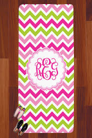 pink green chevron runner rug 3 66 x8 personalized
