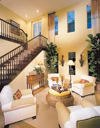 Two Story Living Room Decorating Photos Of Two Story Living Rooms With Stairs With Beautiful