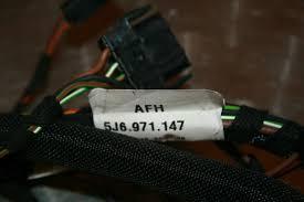 skoda fabia mk2 tailgate wiring loom 5j6971147