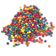 trixes 500 mixed colourful wooden beads 8mm jewellery arts crafts necklace bangle 1