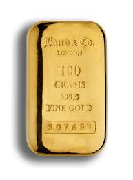 100 Gram Gold Cast Bar 99 99 Purity