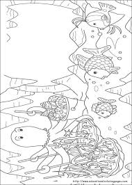 Small Picture Rainbow Fish Coloring Pages free For Kids