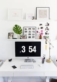 black white home office inspiration. Black + White Home Office Desk Layout Inspiration