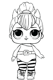 Coloring Pages Dolls Coloring Pages Grunge Series 3 Surprise Doll