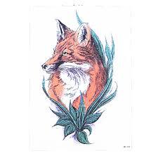 639 8ks Hot Prodej Vodotěsný Dočasné Tetování Nálepka Liška Vlk Přečerpávání Vody Falešné ženy Muži Tělo Rameno Art Tetování Design