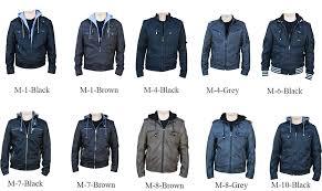 rnz premium designer mens faux leather jacket multiple styles