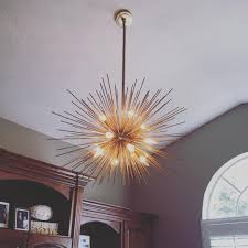 pottery barn explosion chandelier officedecor starburstlight