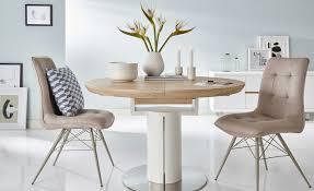 Esstisch rund ausziehbar weiß holzfarben