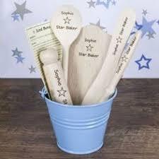 personalised star baker kids baking set blue personalised baking gifts cooking and baking