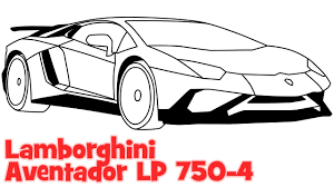 cool cars drawings easy. Perfect Easy How To Draw A Car Lamborghini Aventador Step By Easy Drawing For  Beginners  YouTube Intended Cool Cars Drawings Easy
