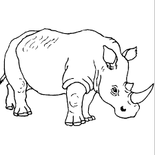 Coloriage Dans La Savane Rhinoceros Colorier Allofamille