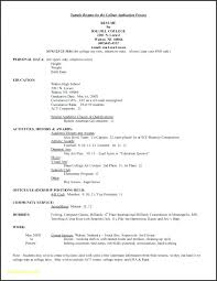 Resume Template For College Application Hostingpremium Co