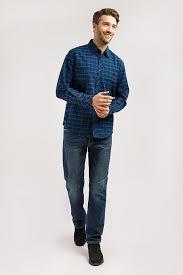 <b>Верхняя сорочка</b> мужская, цвет темно-синий, артикул: W19 ...