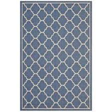 avena in blue and beige 5 ft x 8 ft moroccan quatrefoil trellis indoor