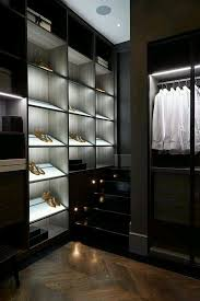 led closet lighting. Led Closet Lighting Ideas With Rods Opened Shelves Drawers And Parquet Wooden Floor M