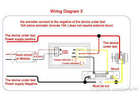 amp meter wiring diagram for car amp image wiring new dual display led digital voltmeter ammeter panel blue and red on amp meter wiring diagram