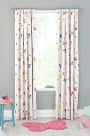 Next Bedroom Curtains Buy Watercolour Butterfly Printed Blackout Pencil Pleat Curtains