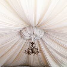 fabric ceiling gather