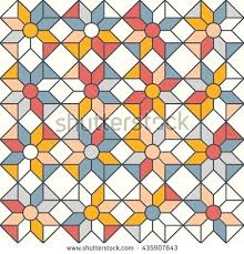 simple stained glass windows stained glass window pattern with simple geometric shapes vector pattern with diamond