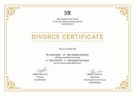 Divorce Certificate Template 40 Free Word PDF Document Downloads Mesmerizing Divorce Paper Template