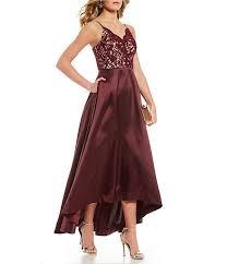 Xtraordinary Glitter Lace Bodice Slight High Low Long Dress