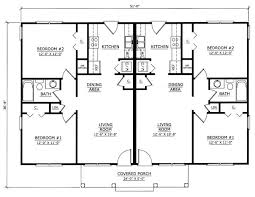 Image Result For One Story 2 Bedroom Duplex Floor Plans With Floor Plans For Duplexes