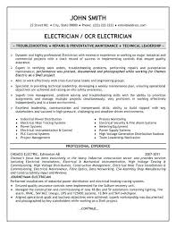 Diploma Electrical Experience Resume Format Sample For Technician 9