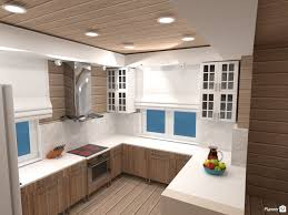 example of a kitchen designed by planner5d which is free 3d kitchen design