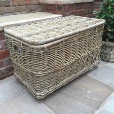 Large wicker basket Wicker Storage Ds Buckle Ltd Large Wicker Basket With Lid