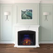 electric napoleon fireplace mantel series nefp330214w lifestyle view