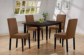 5 pc espresso brown 4 person table and chairs brown dining dinette espresso brown and