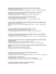 dissertation topics hospital health care