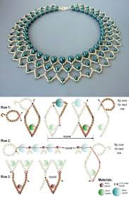 Beaded Necklace Patterns Adorable 48 Best Nyakl Ncok Gyongygall Rok Images On Pinterest Tutorials Of