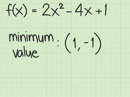 how to find the maximum or minimum value of a quadratic function easily