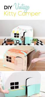 Your cat will LOVE this fun hiding place made out of cardboard, panit, and