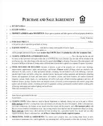 Purchase Agreement Templates Home Sales Template Real Estate Forms ...