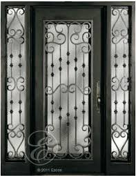 cast iron interior doors glass french door wrought front entry inserts