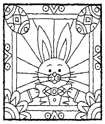 Easter Bunny With Eggs Coloring Page Crayolacom