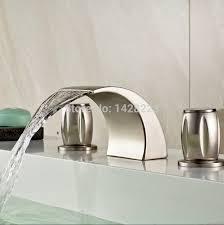 wonderful waterfall bathroom faucet brushed nickel brushed nickel knobs and pullsfancet led lights lighting at